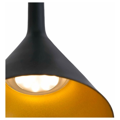 64160 Faro PAM-P LED Black and gold Фото